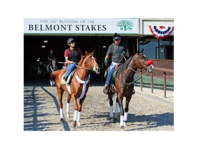 "A labor dispute will not deny I'll Have Another's Belmont Stakes attempt.<br><a target=""blank"" href=""http://photos.bloodhorse.com/TripleCrown/2012-Triple-Crown/Belmont-Stakes-144/23333063_3WZKbw#!i=1885636741&k=SWmvzwg"">Order This Photo</a>"