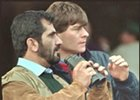Sheikh Mohammed, left, with Godolphin racing manager Simon Crisford.