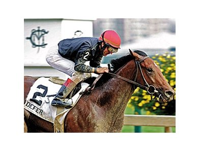 Defer won the Laurel Futurity (gr. III) at age two.