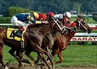 Lady Tak holds on to win the Ballerina Handicap, Sunday at Saratoga.