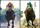 Rachel Alexandra (left) and Zenyatta (right) are Hall of Fame finalists for 2016.