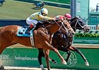 "Protonico fights off Noble Bird to win the Alysheba Stakes. <br><a target=""blank"" href=""http://photos.bloodhorse.com/AtTheRaces-1/At-the-Races-2015/i-KDDNgWv"">Order This Photo</a>"