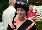 Rosie Napravnik today at Belmont Park.