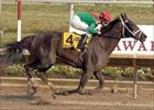 "Unheralded Unbridled Belle and Ramon Dominguez prevail by 7 3/4 lengths in Delaware romp.<br><a target=""blank"" href=""http://www.bloodhorse.com/horse-racing/photo-store?ref=http%3A%2F%2Fpictopia.com%2Fperl%2Fgal%3Fprovider_id%3D368%26ptp_photo_id%3D1730647%26ref%3Dstory"">Order This Photo</a>"