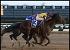 Saarland, shown winning the 1 1/8-mile Remsen last year.