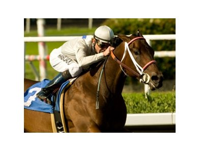 Carlsbad makes her turf debut in the $150,000 San Clemente Handicap.