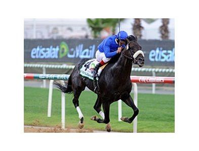 Two Step Salsa strolls away in the Godolphin Mile.