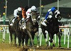 Benny The Bull (left) powers by Idiot Proof to take the Dubai Golden Shaheen.