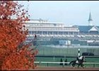 The week before Breeders' Cup 2000, the weather was warm and sunny at Churchill Downs.