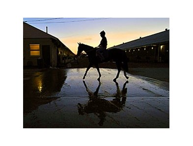 Sunrise at Churchill Downs during Breeders' Cup week.