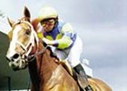 Lodge Hill wins the Canadian Breeders' Stakes, 2000, Mike Smith up.