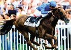 Godolphin's Muhtathir upsets Sendawar and Crimplene in the Jacques le Marois (2000) at 21-1.