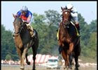 Awesome Humor, right, remained undefeated with her Adirondack victory.