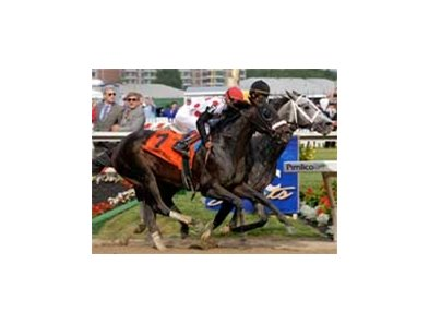 "Flashy Bull, on the inside, gets the nod in the Schaefer.<br><a target=""blank"" href=""http://www.bloodhorse.com/horse-racing/photo-store?ref=http%3A%2F%2Fpictopia.com%2Fperl%2Fgal%3Fprovider_id%3D368%26ptp_photo_id%3D1230124%26ref%3Dstory"">Order This Photo</a>"
