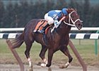 "Smarty Jones, the ""Philly Phenom"" winning the Count Fleet Stakes."