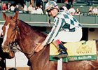 Clear Mandate after her 1997 win in the Spinster Stakes.
