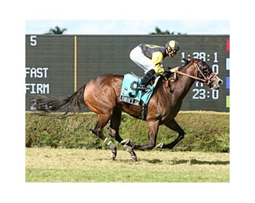 Robbie's Gal cruises in the Live Oak Georgia Debutante Stakes.