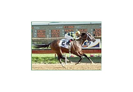 Eibar Coa rides Pollard's Vision to the win in the Illinois Derby at Hawthorne Race Course.