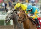 Baroness Thatcher, right, outruns Runway Rosie to win the Santa Ysabel Stakes.