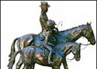 "Bronze sculpture by Jean Clagett, titled ""Continuing the Tradition"", is among the items to be auctioned."