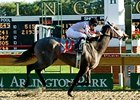 Dreaming of Liz, shown winning the 2007 Arlington-Washington Lassie, will try to add the 2008 Pucker Up to her resume.