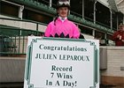 Julien Leparoux after his seventh win at Churchill Downs on Nov. 11.