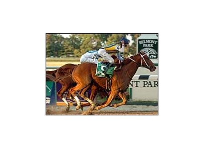 Curlin defeats Lawyer Ron in the Jockey Club Gold Cup.