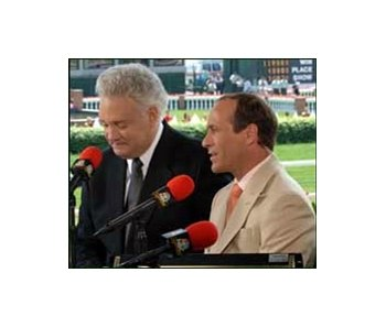 Gary Stevens (with broadcast partner Tom Hammond, left, at this year's Kentucky Derby) is this week's guest on bloodhorse.com Talkin' Horses.