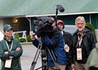 "Filming ""Thoroughbred"" at Churchill Downs last spring: far right, director Paul Wagner."