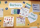 Barbaro's get-well card collection at New Bolton will soon be joined by a large card signed by Belmont Stakes patron.
