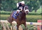Balto Star, winning the 2001 running of the Arkansas Derby.