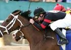 Spun Sugar defeats Happy Ticket in Apple Blossom Handicap at Oaklawn in April.
