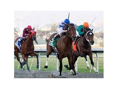 Chocolate Candy wins the California Derby by 1 3/4 lengths