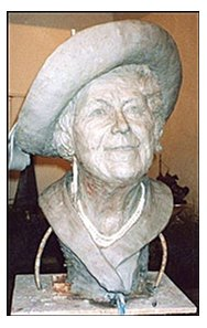Angela Conner's sculpture of the Queen Mother before being bronzed.
