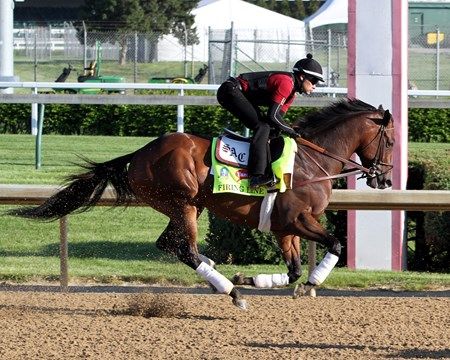 Firing Line on the track at Churchill Downs on April 28, 2015.