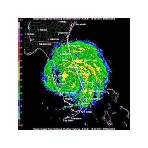 Hurricane Frances is seen in this National Weather Service Doppler radar image taken Sunday.