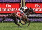 Rebel Raider pulls away to the upset win in the VRC Derby.