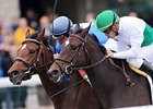"House of Grace (left) and Smart Seattle finished noses apart in the Jessamine, run on the Polytrack at Keeneland.<br><a target=""blank"" href=""http://www.bloodhorse.com/horse-racing/photo-store?ref=http%3A%2F%2Fpictopia.com%2Fperl%2Fgal%3Fprovider_id%3D368%26ptp_photo_id%3D8556998%26ref%3Dstory"">Order This Photo</a>"