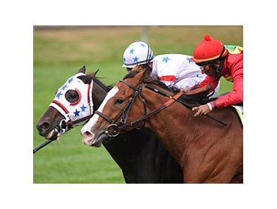 "Court Vision (left) outfights Karelian to win the Shadwell Turf Mile.<br><a target=""blank"" href=""http://www.bloodhorse.com/horse-racing/photo-store?ref=http%3A%2F%2Fpictopia.com%2Fperl%2Fgal%3Fprovider_id%3D368%26ptp_photo_id%3D8546586%26ref%3Dstory"">Order This Photo</a>"