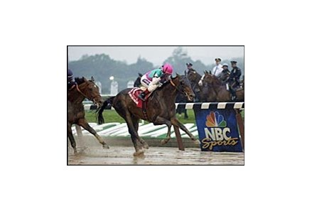 Empire Maker, spoiled Funny Cide's Triple Crown with this Belmont victory.