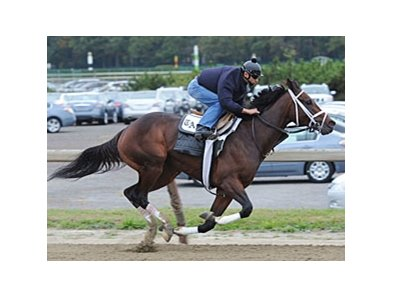 Uncle Mo worked six furlongs in 1:13.22 at Belmont October 23.