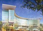 Architect rendering of the Suffolk Downs casino project.