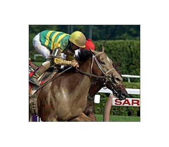Classic Elegance noses past Angel Trumpet to win the 87th running of the Schuylerville Stakes.