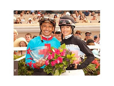 Mike Smith and Chantal Sutherland after the Battle of the Exes