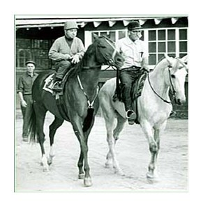 Majestic Prince with trainer Longden up