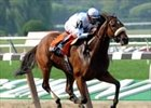 Smokey Glacken glided to a two-length victory in the Floral Park Handicap,  Saturday at Belmont.