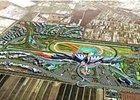 An artist's rendering of Tianjin Horse City racetrack.