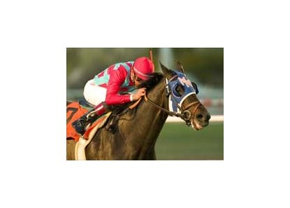 Romance Is Diane  wins the Hollywood Starlet, giving jockey David Flores his fifth victory of the day.