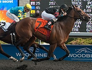 Shaman Ghost and Rafael Hernandez take the Marine Stakes at Woodbine.Order This Photo