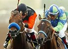Declan's Moon, right, returns to action in Saturday's Santa Catalina at Santa Anita.